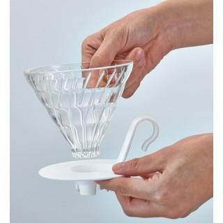 Hario Cono de goteo de cristal de base blanca V60 ( Hario)