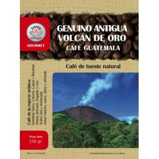 Café Genuino Antigua Volcán de Oro Guatemala en Grano ( Cafés AyS Tostadero Barista)